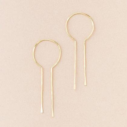 Equinox Keyhole Hoops Gold Vermeil