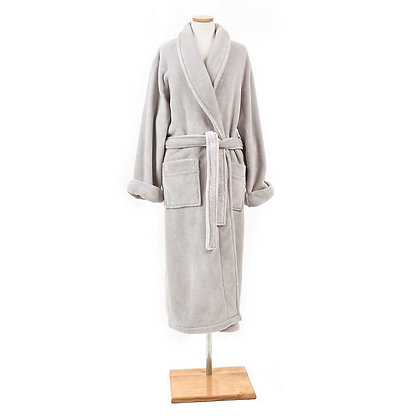 Dove Grey Sheepy Fleece Robe Pine Cone Hill