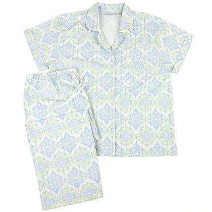 Carmen Cotton Poplin Short Sleeve Pajamas