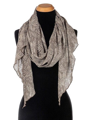 Handkerchief Scarf--Brown Cobra