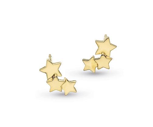Stargazer Galaxy Gold Plate Stud Earrings