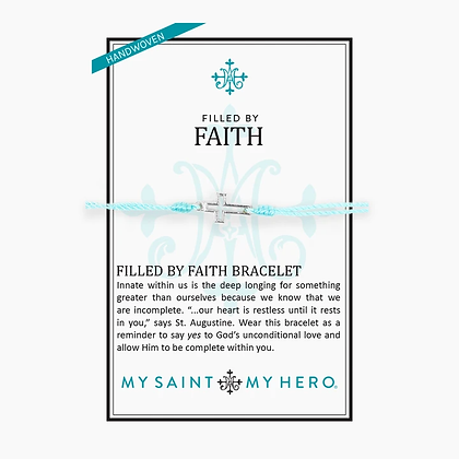 Filled By Faith Bracelet Silver/Mint
