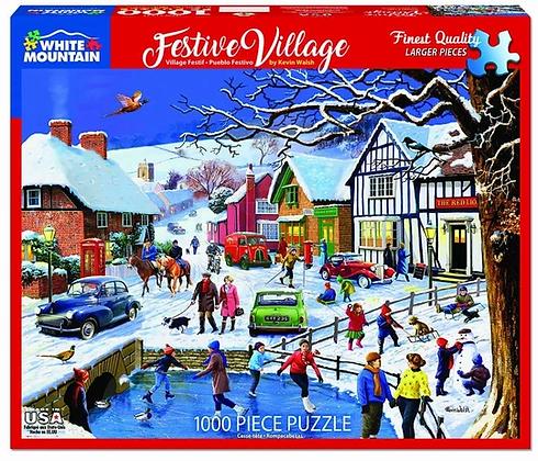 Festive Village Puzzle--1000pc