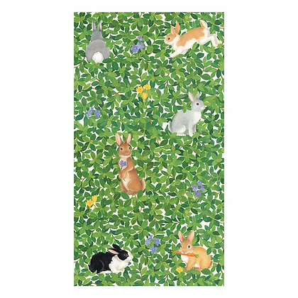 Bunnies and Boxwood Paper Guest Towels
