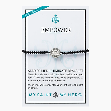 Empower Seed of Life Illuminate Bracelet Black/Silver