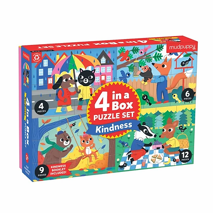 Kindness 4-in-a-Box Puzzle Set