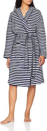 Rita Navy Stripe Fluffy Dressing Robe