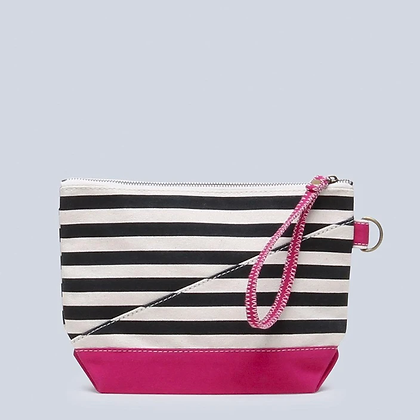 Contemporary All In Pouch with Handle in Fuchsia