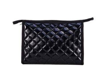 Black Quilted Audrey Pouch