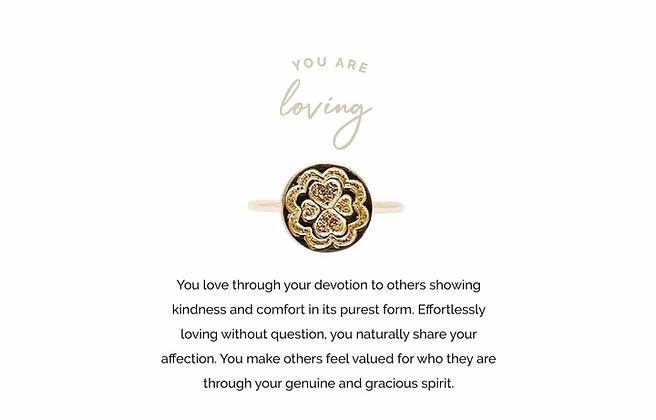 Loving Adjustable Ring Gold