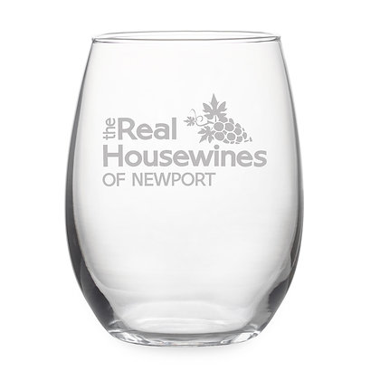 The Real Housewines of Newport Stemless Wine Glass