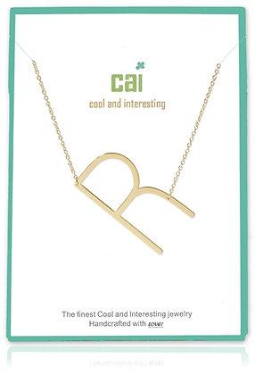 Medium Sideways Initial Necklace--R