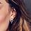 Thumbnail: Coast Pebble Beach Double Hoop Stud Earrings