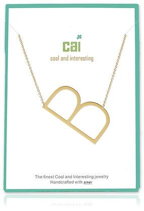 Medium Sideways Initial Necklace--B