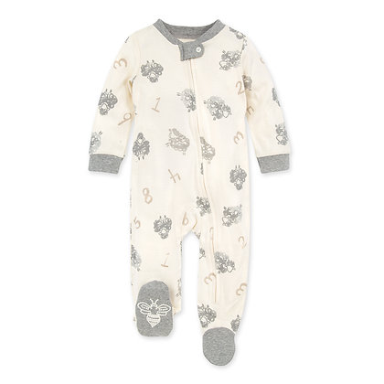 Counting Sheep Organic Baby Zip Front Loose Fit Pajamas