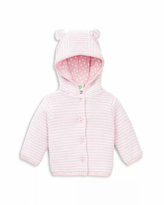 Pink Striped Hooded Cardigan Sweater Little Me