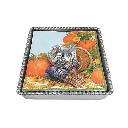 Turkey Beaded Napkin Box