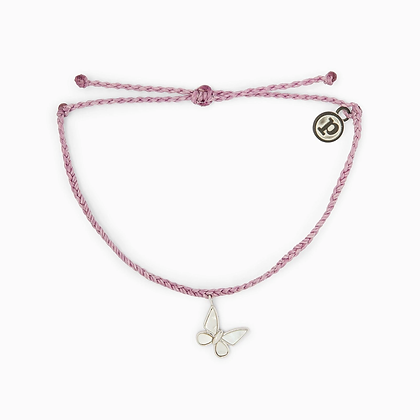 Save the Butterflies Charm Lilac/Silver