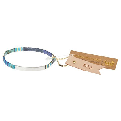 Good Karma Miyuki Bracelet | Brave - Cobalt/Silver