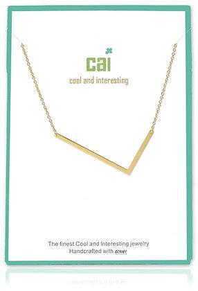 Medium Sideways Initial Necklace--L