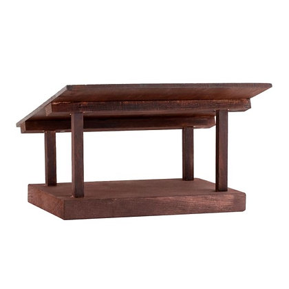 Wooden Stable for the Danforth Nativity