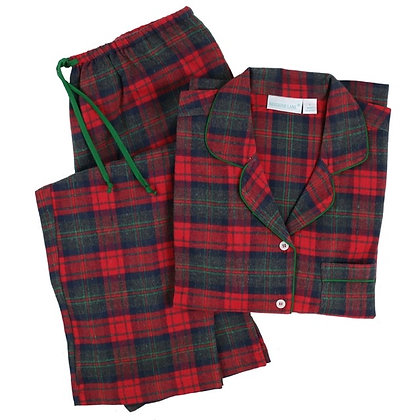 Finch Cotton Flannel Classic Long Sleeve Pajamas