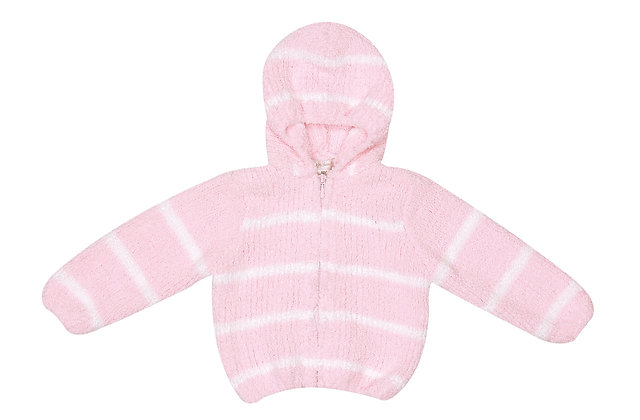 Pink/Ivory Chenille Hoodie