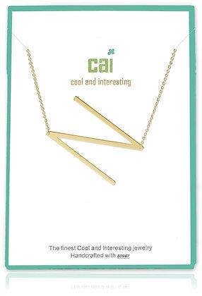 Medium Sideways Initial Necklace--N
