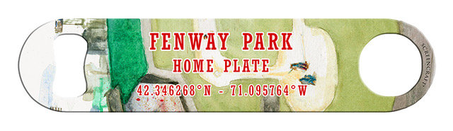 Fenway Park Home Plate Bottle Opener