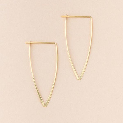 Galaxy Triangle Earrings Gold Vermeil