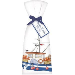 Lobster Boat Towel Set