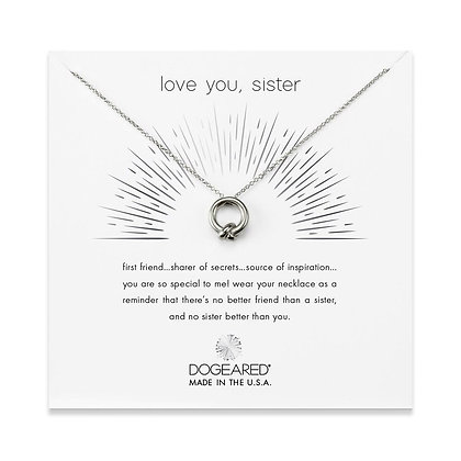 Love You, Sister Necklace Sterling Silver