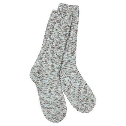 World's Softest Weekend Ragg Crew Socks Savannah
