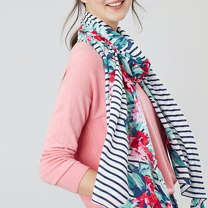 Conway Scarf Navy Floral Border--Joules