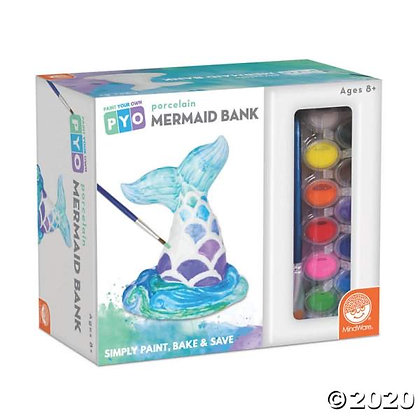 Paint Your Own Mermaid Bank