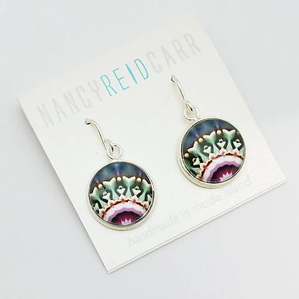 Mandala Succulent Earrings