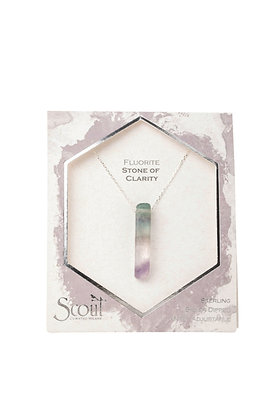 Stone Point Necklace Fluorite/Silver