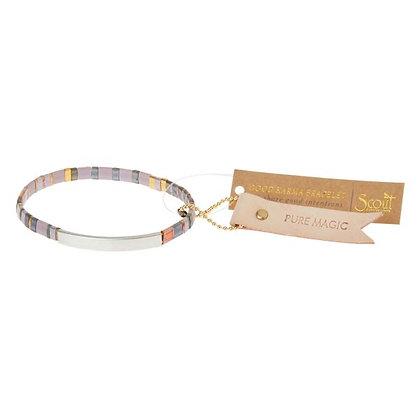 Good Karma Miyuki Bracelet | Pure Magic - Dusk/Silver