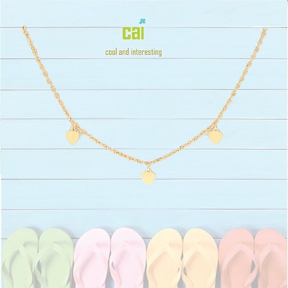 Gold Heart Dainty + Dangle Anklet