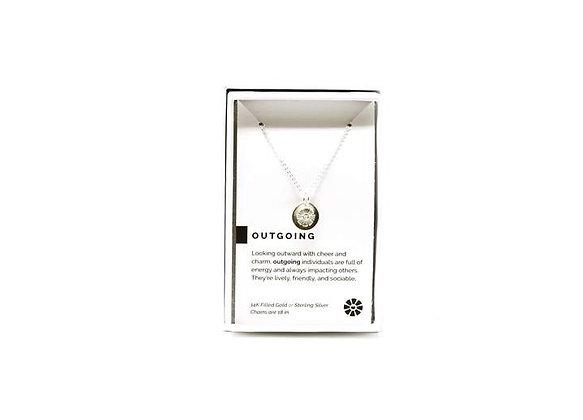 Outgoing Necklace Silver