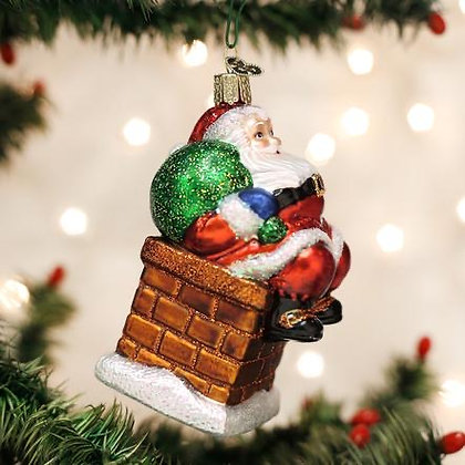 Chimney Stop Santa Ornament from Old World Christmas