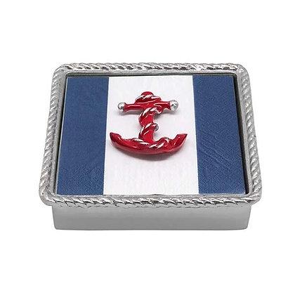 Red Anchor Rope Napkin Box