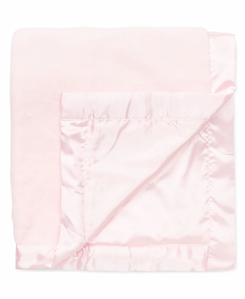 Pink Plush Receiving Blanket Little Me