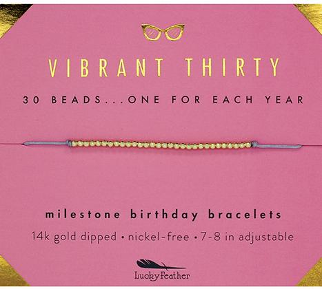 Vibrant Thirty Milestone Birthday Bracelet