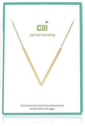 Medium Sideways Initial Necklace--V