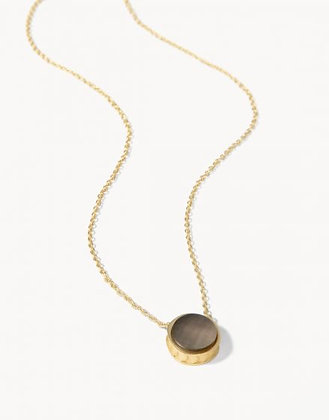 Naia Petite Necklace Grey Pearlescent