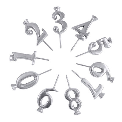 Number Candle Holders Set
