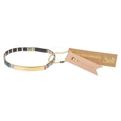 Good Karma Miyuki Bracelet | Strength & Grace - Gunmetal/Gold