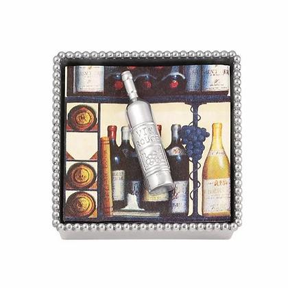 Wine Bottle Beaded Napkin Box