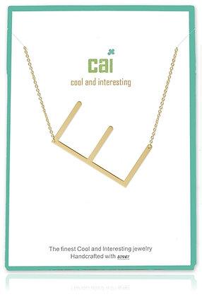 Medium Sideways Initial Necklace--E
